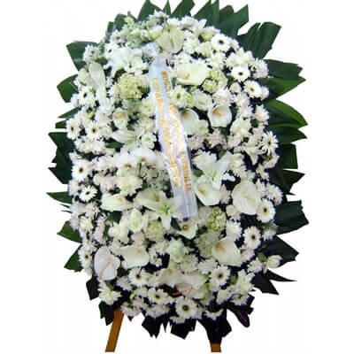 Coroa de Flores Elegance E | Coroas 24 Horas